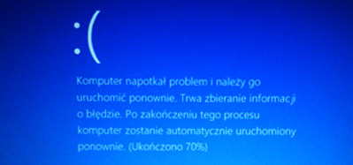 """Blue screen, inaczej """"killer"""" lub """"ekran śmierci"""""""